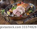 Rolled Lamb Roast with Barbecue Vegetable 33374826