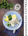 Cod Filet with Wakame and Mashed Potatoes 33374832