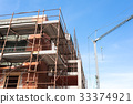 House for renovation with the scaffolding  33374921