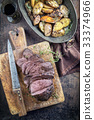 Barbecue Roast Venison with Potatoes and Quince 33374966