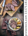 Barbecue Roast Vanison with Potatoes and Quince 33375181