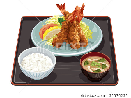 fried shrimp meal, set meal, daily special 33376235
