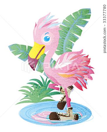 vector, vectors, flamingo 33377780