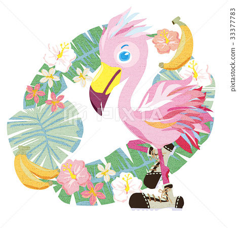 vector, vectors, flamingo 33377783