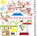 봄의 풍경과 아이템 33378931
