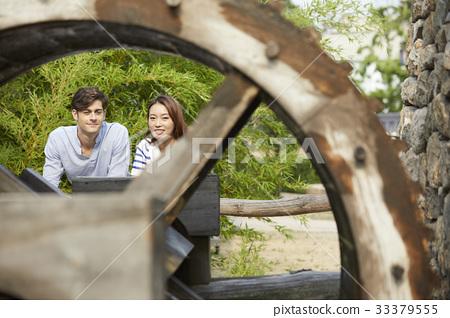 커플,물레방아,경복궁(사적117호),종로구,서울 33379555