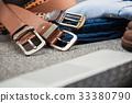 Asian men's vintage belt stylish 33380790