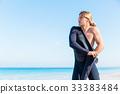 海滩 冲浪者 年轻 33383484