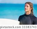 海滩 冲浪者 年轻 33383743