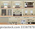 Hotel interior set . 33387878