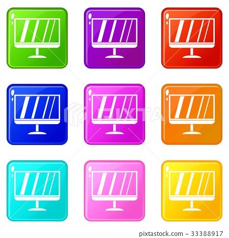 TV icons 9 set 33388917
