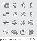 Exercise and Healthy line icon 33391152