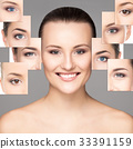 Collage portrait of a young woman in makeup 33391159