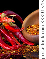 Chili peppers on a black background 33391545