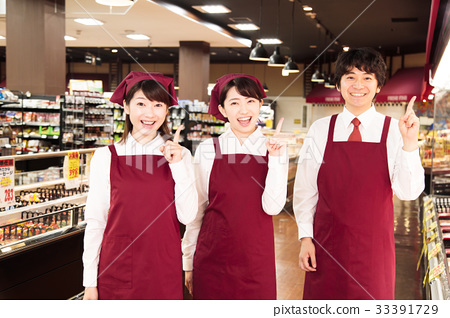 슈퍼 슈퍼마켓 점원 직원 33391729
