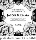 Roses Wedding Invite Invitation Template 33392468