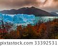 Glacier Perito Moreno National Park in autumn 33392531