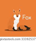 Vector cute cartoon wild fox. 33392537