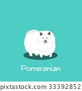 An illustration depicting Pomeranian dog 33392852