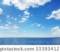 Beatiful blue sky with clouds 33393412