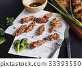 Korean sauce fried chicken wing 33393550