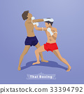 Thai Martial arts Boxing vector 33394792