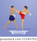 Thai Martial arts Boxing vector 33394793