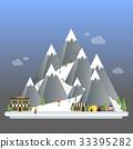 Ski Resort modern cartoon concept.  33395282