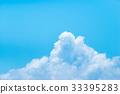 积雨云 蓝天 蓝蓝的天空 33395283
