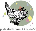 Flying bird and colorfull rain 33395622