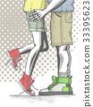 Couple of teenagers hugging 33395623