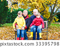 Grandfather, grandmother and two little kid boys 33395798