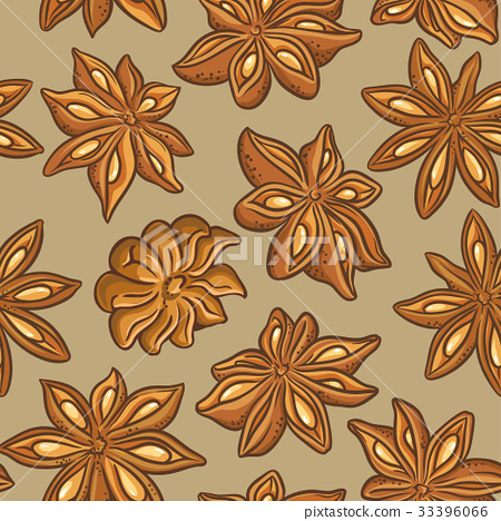 anise vector pattern 33396066