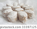 Foreground traditional white cookies  33397125