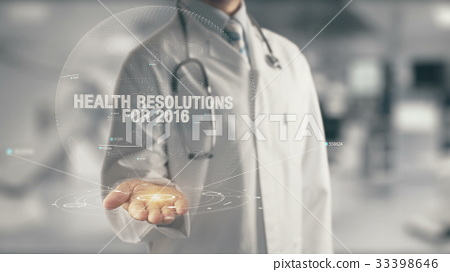 Doctor holding in hand Health Resolutions for 2016 33398646