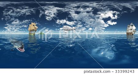 Spherical 360 degrees seamless panorama 33399243