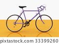 Side view of a racing bicycle 33399260