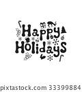 christmas, vector, design 33399884