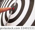 Black and white dart 33401531