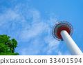 kyoto tower, blue sky, sky 33401594