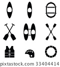 kayak icons Vector illustration 33404414