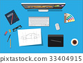 vector, design, desk 33404915