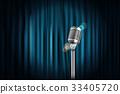 curtain, microphone, vector 33405720