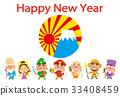 七福神 新年贺卡材料 模板 33408459