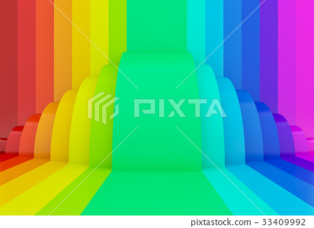 Abstract Colorful Rainbow Perspective Background Stock