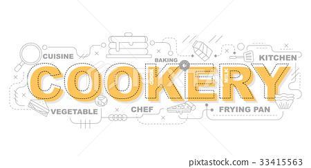 Cookery icons for education illustration  33415563