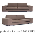 Brown Sofa on white background 33417983