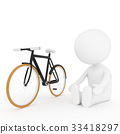 white human doing yoga exercise with bicycle 33418297