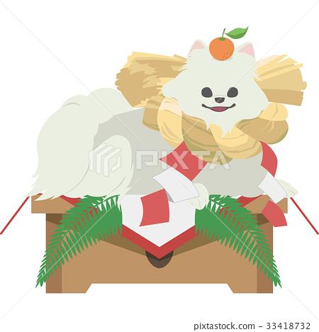 A girl holding a mirror-like bow (Pomeranian) 33418732