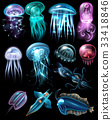 Underwater Animals Icon Set 33418846